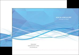 exemple pochette a rabat bleu bleu pastel fond bleu pastel MLGI68938