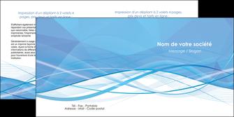 maquette en ligne a personnaliser depliant 2 volets  4 pages  bleu bleu pastel fond bleu pastel MLGI68956