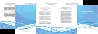 realiser depliant 4 volets  8 pages  bleu bleu pastel fond bleu pastel MLGI68968