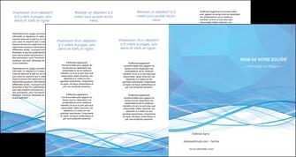 modele depliant 4 volets  8 pages  bleu bleu pastel fond bleu pastel MLGI68972