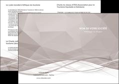 modele depliant 2 volets  4 pages  gris fond gris simple MLGI69002