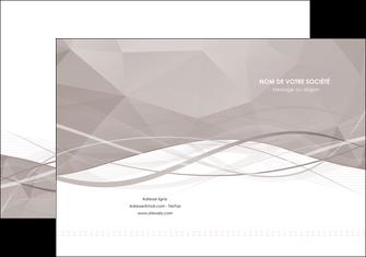 imprimerie pochette a rabat gris fond gris simple MLGI69008