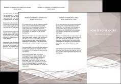 personnaliser modele de depliant 3 volets  6 pages  gris fond gris simple MLGI69022