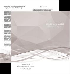faire modele a imprimer depliant 2 volets  4 pages  gris fond gris simple MLGI69024