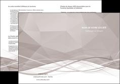 imprimer depliant 2 volets  4 pages  gris fond gris simple MLGI69036