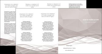 realiser depliant 4 volets  8 pages  gris fond gris simple MLGI69042