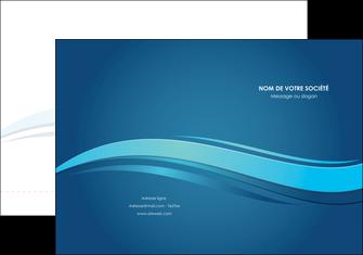 imprimerie pochette a rabat bleu bleu pastel fond bleu MIS69638