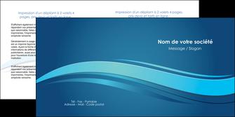 realiser depliant 2 volets  4 pages  bleu bleu pastel fond bleu MIS69654