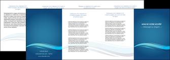 cree depliant 4 volets  8 pages  bleu bleu pastel fond bleu MIS69666