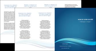 realiser depliant 4 volets  8 pages  bleu bleu pastel fond bleu MIS69670