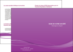 creation graphique en ligne depliant 2 volets  4 pages  web design fond violet fond colore action MIF69786