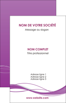 impression carte de visite web design fond violet fond colore action MIF69790