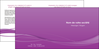 modele en ligne depliant 2 volets  4 pages  web design fond violet fond colore action MIF69810