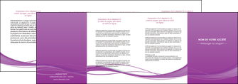 imprimerie depliant 4 volets  8 pages  web design fond violet fond colore action MIF69822