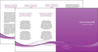 faire depliant 4 volets  8 pages  web design fond violet fond colore action MIF69826