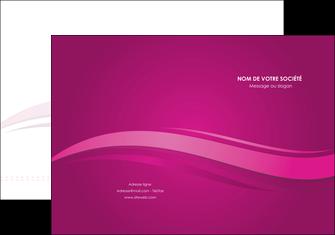 imprimerie pochette a rabat violet violace fond violet MIF69844