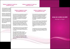 modele en ligne depliant 3 volets  6 pages  violet violace fond violet MIF69858