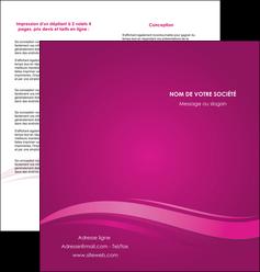 cree depliant 2 volets  4 pages  violet violace fond violet MIF69860