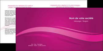 faire depliant 2 volets  4 pages  violet violace fond violet MIF69862