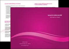 impression depliant 2 volets  4 pages  violet violace fond violet MIF69872