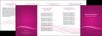 faire modele a imprimer depliant 4 volets  8 pages  violet violace fond violet MIF69874