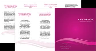 creer modele en ligne depliant 4 volets  8 pages  violet violace fond violet MIF69878