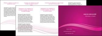 impression depliant 4 volets  8 pages  violet violace fond violet MIF69880