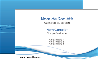 impression carte de visite bleu bleu pastel fond bleu MIF70048