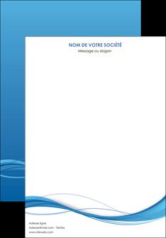 imprimer affiche bleu bleu pastel fond bleu MIF70054