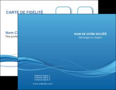 cree carte de visite bleu bleu pastel fond bleu MIF70058