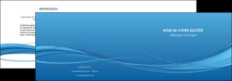 creation graphique en ligne depliant 2 volets  4 pages  bleu bleu pastel fond bleu MIF70064