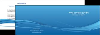 personnaliser modele de depliant 2 volets  4 pages  bleu bleu pastel fond bleu MIF70066
