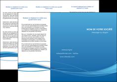 creation graphique en ligne depliant 3 volets  6 pages  bleu bleu pastel fond bleu MIF70074