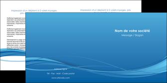 personnaliser modele de depliant 2 volets  4 pages  bleu bleu pastel fond bleu MIF70078