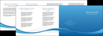 realiser depliant 4 volets  8 pages  bleu bleu pastel fond bleu MIF70092