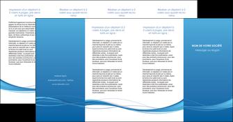 exemple depliant 4 volets  8 pages  bleu bleu pastel fond bleu MIF70096