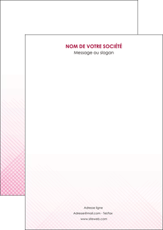 imprimer flyers rose rose tendre fond en rose MIF70206