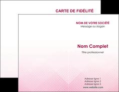 personnaliser modele de carte de visite rose rose tendre fond en rose MLGI70214