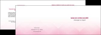 faire modele a imprimer depliant 2 volets  4 pages  rose rose tendre fond en rose MLGI70220