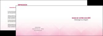 imprimer depliant 2 volets  4 pages  rose rose tendre fond en rose MLGI70222