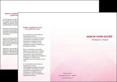 personnaliser maquette depliant 3 volets  6 pages  rose rose tendre fond en rose MLGI70230