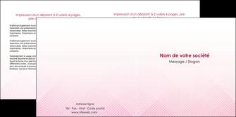 modele depliant 2 volets  4 pages  rose rose tendre fond en rose MLGI70234