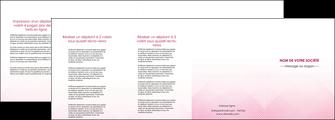 imprimer depliant 4 volets  8 pages  rose rose tendre fond en rose MLGI70248
