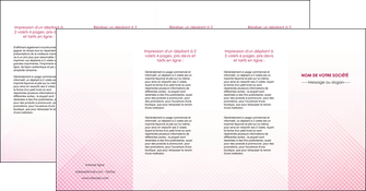maquette en ligne a personnaliser depliant 4 volets  8 pages  rose rose tendre fond en rose MLGI70252