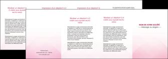 faire depliant 4 volets  8 pages  rose rose tendre fond en rose MIF70254