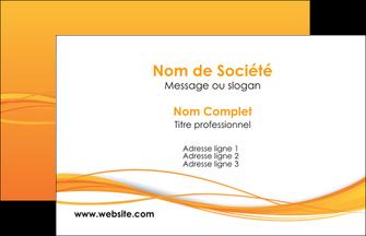 personnaliser maquette carte de visite orange couleur couleurs MIF70378