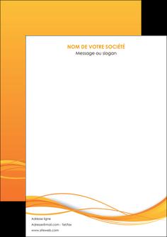 personnaliser modele de flyers orange couleur couleurs MIF70380