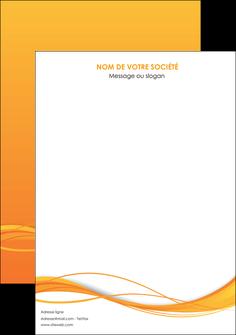 personnaliser modele de affiche orange couleur couleurs MIF70386
