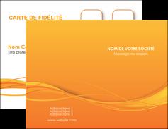 cree carte de visite orange couleur couleurs MIF70388