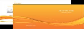 realiser depliant 2 volets  4 pages  orange couleur couleurs MIF70394